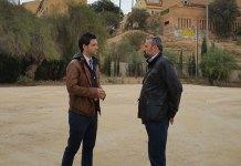 Sagredo y Mora durante su visita a las obras en Terramelar