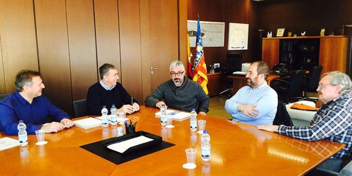 Instante de la reunión con el Conseller Rafael Climent