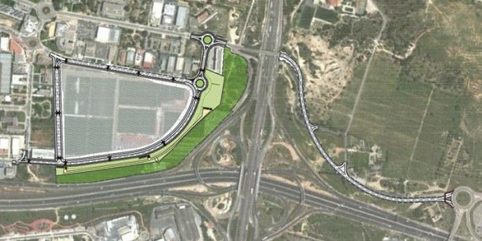 Imagen del proyecto de urbanización de la Ciudad Deportiva