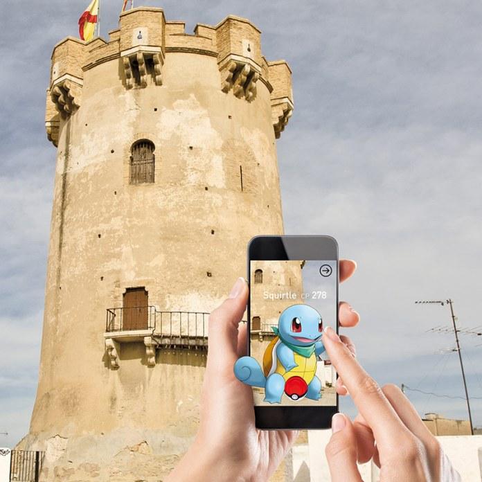 Un Pokémon en la Torre de Paterna