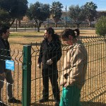 Sagredo en el nuevo parque canino de santa Rita