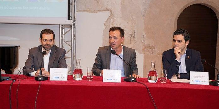 Sagredo, Raga y Marras durante la presentación del proyecto
