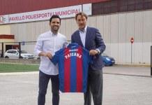 El alcalde de Paterna, Juan Antonio Sagredo, junto a Quico Catalán, presidente del Levante UD