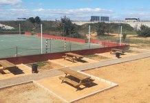 Zona deportiva y de picnic en el barrio de Santa Rita
