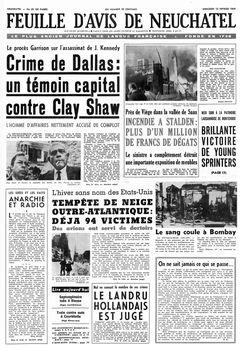 Feuille d'avis de Neuchâtel, nº 35, 12 février 1969, p. 1