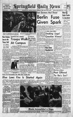 Springfield Daily News, vol. 79, nº 38, 13/02/1969, p. 1