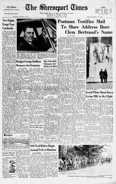 The Shreveport Times, vol. 98, nº 78, 13/02/1969, p. 1-A