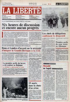 La Liberté, nº 112, 14/02/1969, p. 1