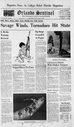 Orlando Sentinel, vol. 84, nº 279, 16/02/1969, p. 1