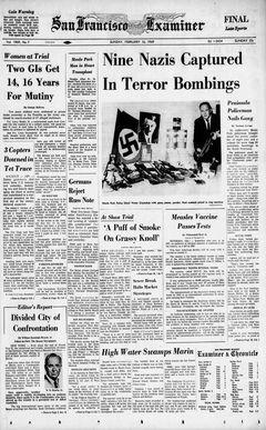 San Francisco Examiner, Vol. 1969, nº 7, 16/02/1969, p. 1