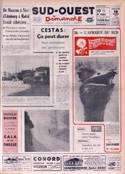 Sud-Ouest Dimanche, nº 1021, 16 février 1969, p. 1