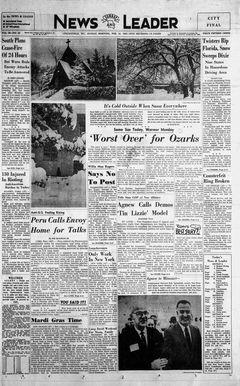 Sunday News & Leader, vol. 40, nº 40, 16/02/1969, p. 1