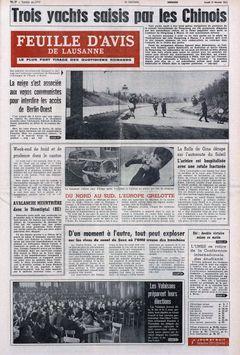 Feuille d'Avis de Lausanne, nº 39, 17/02/1969, p. 1
