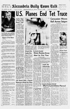 Alexandria Daily Town Talk, vol. 86, nº 337, 17 février 1969, p. A-1