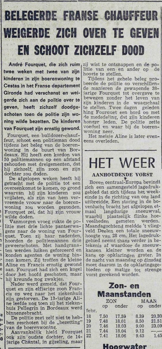 De Vrije Zeeuw, nº 5924, 17 février 1969, p. 1