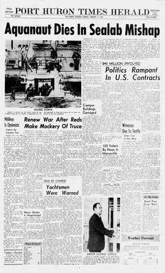 Port Huron Times Herald, vol. 59, nº 48, 17 février 1969, p. 1