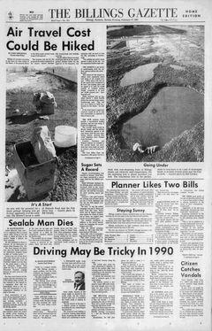 The Billings Gazette, nº 275, 17/02/1969, p. 1