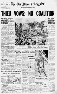 The Des Moines Register, 17/02/1969, p. 1