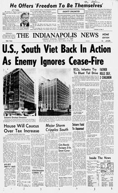 The Indianapolis News, 17/02/1969, p. 1