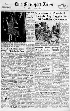 The Shreveport Times, vol. 98, nº 82, 17 février 1969, p. 1
