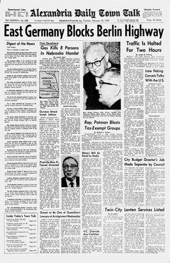 Alexandria Daily Town Talk, vol. 86, nº 338, 18/02/1969, p. A-1