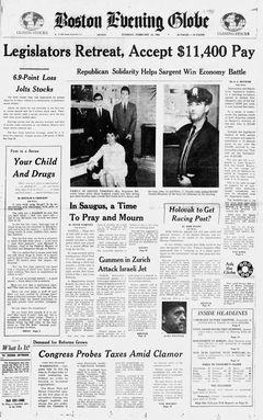 Boston Evening Globe, 18/02/1969, p. 1