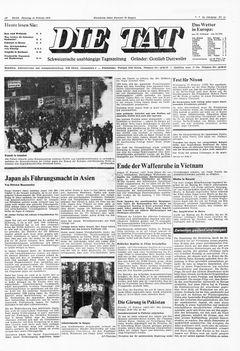 Die Tat, nº 41, 18/02/1969, p. 1