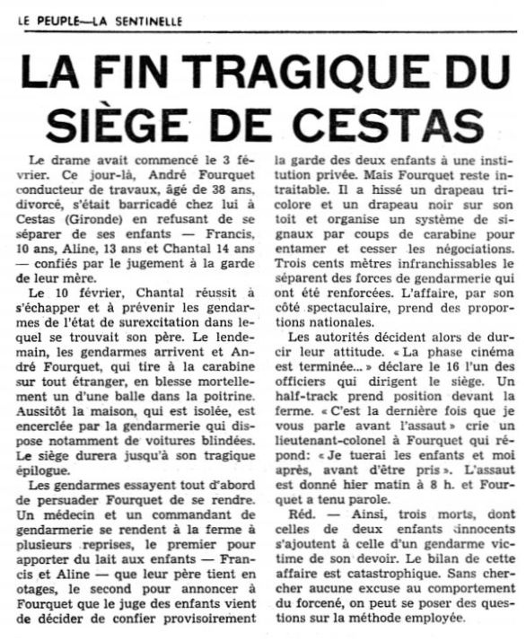 Le Peuple – La Sentinelle, nº 39, 18/02/1969, p. 6
