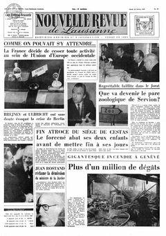 Nouvelle Revue de Lausanne, nº 40, 18/02/1969, p. 1