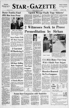 Star-Gazette, vol. 7, nº 15, 17 février 1969, p. 1