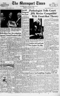 The Shreveport Times, vol. 98, nº 83, 18/02/1969, p. 1-A