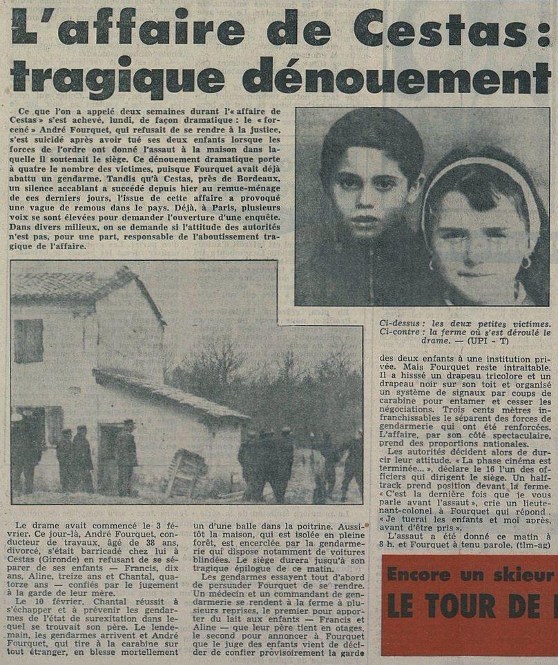 Tribune de Lausanne – Le Matin, nº 49, 18/02/1969, p. 1