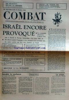 Combat, nº 7652, 19/02/1969, p. 1