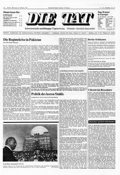 Die Tat, nº 42, 19/02/1969, p. 1