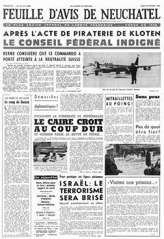 Feuille d'avis de Neuchatel, nº 42, 20/02/1969, p. 1