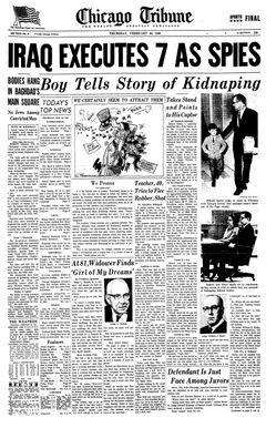 Chicago Tribune, nº 51, 20/02/1969, p. 1