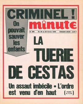 Minute, n° 358, 20/02/1969, p. 1