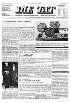 Die Tat, nº 44, 21/02/1969, p. 1