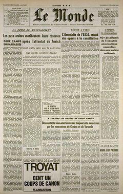 Le Monde, n° 7499, 21 février 1969, p. 1