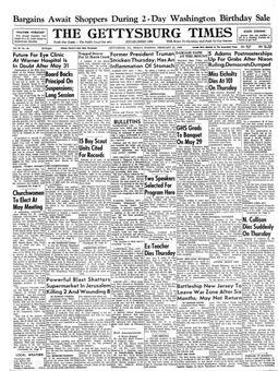 The Gettysburg Times, vol. 67, nº 44, 21/02/1969, p. 1