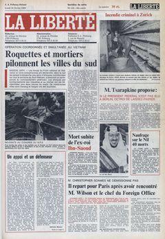 La Liberté, nº 120, 24/02/1969, p. 1