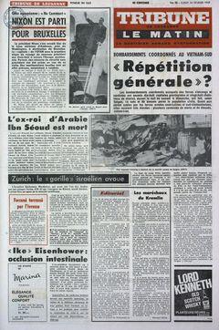 Tribune de Lausanne – Le Matin, nº 55, 24/02/1969, p. 1