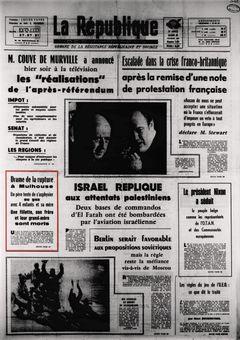 La République des Pyrénées, nº 7459, 25/02/1969, p. 1