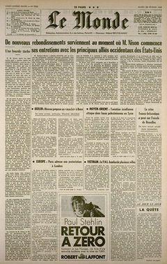 Le Monde, nº 7502, 25 février 1969, p. 1
