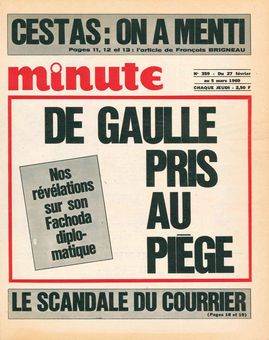 Minute, n° 359, 27/02/1969, p. 1