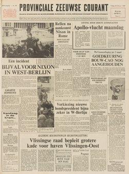 Provinciale Zeeuwse Courant, nº 49, 28/02/1969, p. 1