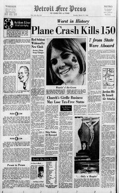 Detroit Free Press, Vol. 138, nº 316, 17/03/1969, p. 1