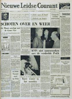 Nieuwe Leidse Courant, 17/03/1969, p. 1