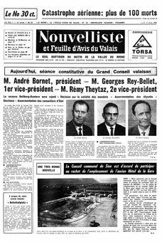 Nouvelliste et Feuille d'avis du Valais, nº 63, 17/03/1969, p. 1
