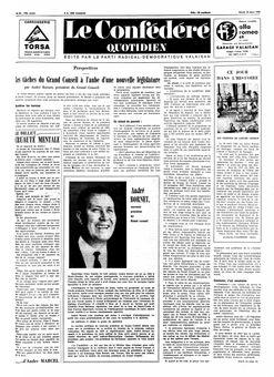 Le Confédéré quotidien, nº 64, 18/03/1969, p. 1
